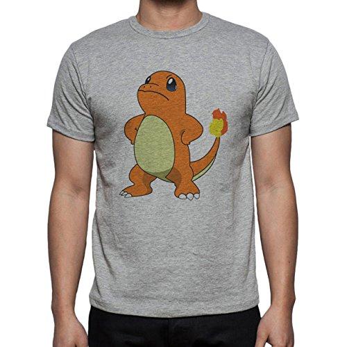 Pokemon Charmander Fire Dragon Proud Herren T-Shirt Grau