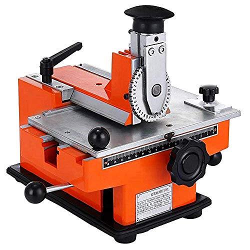 Targhetta per targhetta manuale, in metallo, stampante, marcatura per metallo, diverse ruote, opzionale 2/2,5/3/4/5/6, red or black, No.2 Codeword Plate