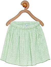 Campana Girls Flared Skirt - Green
