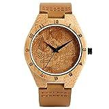 ZJQQS Reloj de Madera Criaturas Chinas Phoenix Relojes de Madera Escultura excelente Reloj de bambú Reloj de Cuarzo para Mujer Reloj Hora Azul