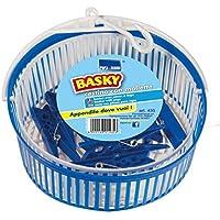 Bolsas Cesta puerta pinzas BASKY, Bolsas pinzas puerta con ganchos de ropa incluyendo, Bolsas pinza de azul y blanco, Bolsas con pinza colgado de la puerta, extensibles de basura plástica. 435