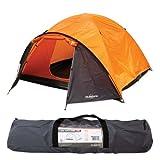 Tienda súper iglú para cuatro personas Milestone Camping - Naranja