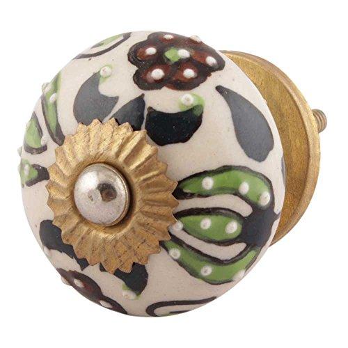 indianshelf fait à la main 14 pièces Ceramico multicolore Flower boutons de pour meubles vendange/Poignées de armoire