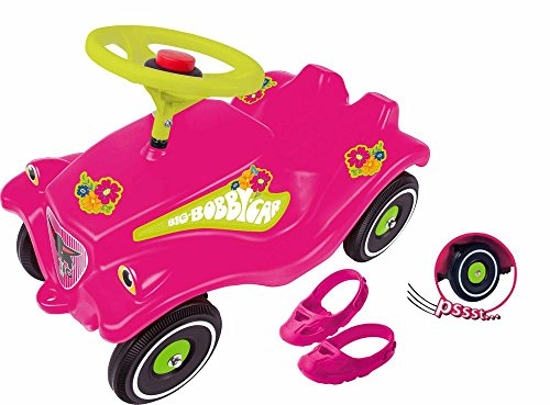 BIG-BOBBY-CAR Flower mit Flüsterrädern und Schuhschoner