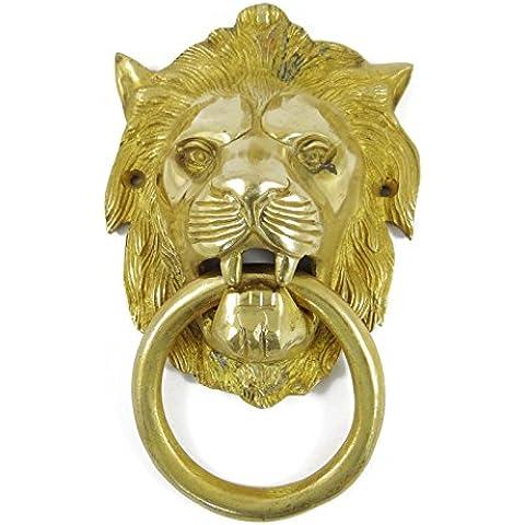 La estatua del león Golpeador de puerta de metal coleccionables Showpiece escultura de latón