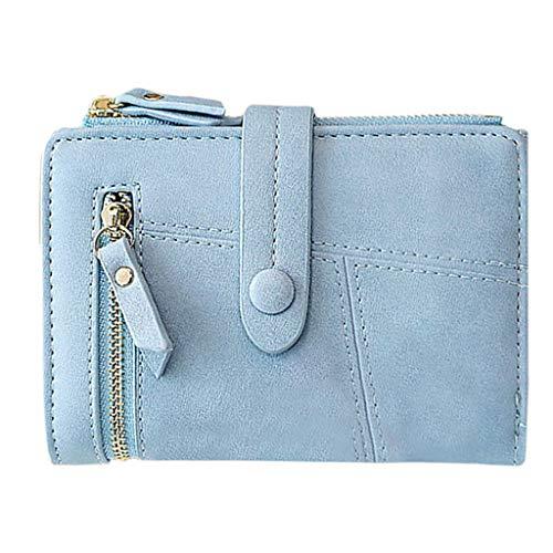 SuperSU Brieftasche ►▷ Damenbörse Einfach Einfarbig Falten Kurz Mini Multi-Card-Bit mit Schnalle Geldbörse,Handtasche Geldbeutel Portemonnaie Münztasche Student Arbeit täglich