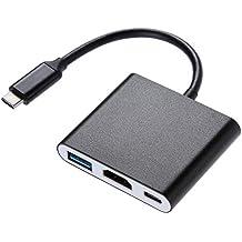Zacro Nintendo Switch Dock USB Tipo C a HDMI Adaptador Cable USB 3.0 y USB C,PD Carga USB Hub para Nintendo Switch, Macbook Pro, etc