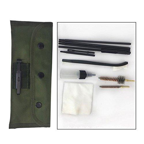 Carremark 10 Stücke 22 22LR 223 556 Gewehr Reinigung Kit Mit Tragetasche Reinigen Stange Nylon Pinsel Set -