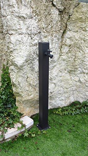 Fontane moderne punto acqua quadrato cm14x14x100h antracite in ferro con 540rukit39