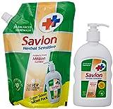 #8: Savlon Herbal Sensitive Handwash Pouch - 500 ml with Free Pump - 220 ml