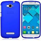 TBOC® Funda de Gel TPU Azul para Alcatel One Touch Pop C7 de Silicona Ultrafina y Flexible