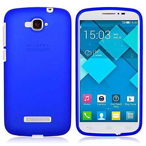 TBOC® Blau Gel TPU Hülle für Alcatel One Touch Pop C7 Ultradünn Flexibel Silikonhülle