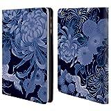 Head Case Designs Offizielle PLdesign Blau Vintage Blumig Brieftasche Handyhülle aus Leder für iPad Mini 1 / Mini 2 / Mini 3