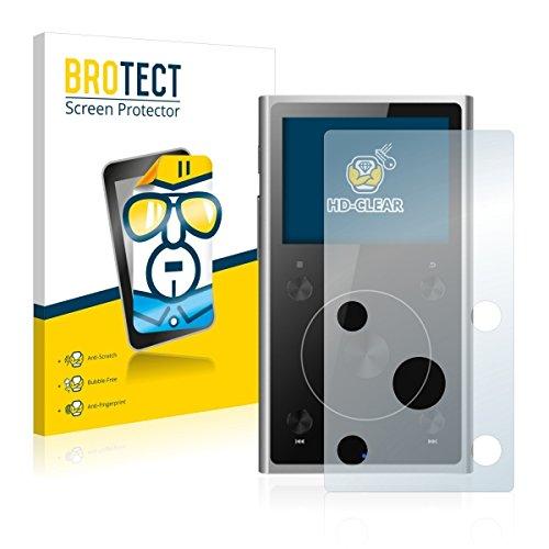 2X BROTECT HD Clear Displayschutz Schutzfolie für FiiO X1 II (kristallklar, extrem Kratzfest, schmutzabweisend)