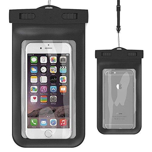 Wasserdichte Schutzhülle , asstar Universal Wasserdichte Schutzhülle für Apple iPhone 6S, 6, 6S Plus, 5S, Galaxy S7, S6Note 5, HTC, LG, Motorola bis 14cm und-, pass, Portemonnaie, schwarz