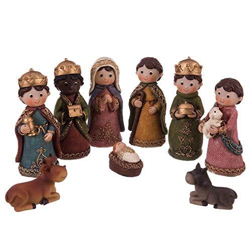 Set De 11 Figuras Bel/én 7.5cm Nacimiento Bel/én De Cer/ámica Santon Para Decoraci/ón Navide/ña