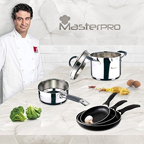 Masterpro - Batería Cocina Set 6 pcs: Cazo