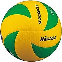 Mikasa Volleyball MVA 200-CEV Hallenvolleyball, grün gelb, 5, 1162