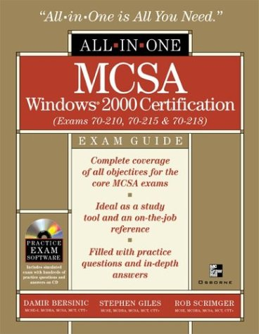 MCSA All-in-one Exam Guide: (Exams 70-210, 70-215 and 70-218) por Stephen Giles