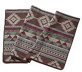 Ruth&Boaz Outdoor Decke aus Wollmischgewebe mit ethnischem Inka Muster (L) (grün, 60
