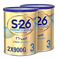 Nestle Wyeth Nutrition S26 Progress Gold Stage 3, 1-3 Years Premium Milk Powder for Toddlers 900g with Nutrilearn System - (Pack of 2)