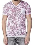 Cipo & Baxx T-Shirt Herren mit Brusttasche CT 200, burgundy, M