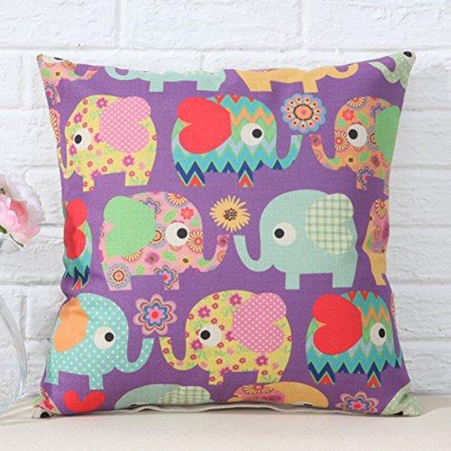 almohada patrón de elefante de dibujos animados/oficina