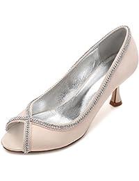 L@YC Zapatos de Boda de Las Mujeres Costura de Diamantes de Encaje Peep Toe Summer Prom (Por Encargo)
