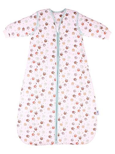 Saco de dormir para bebé Slumbersac con Mangas Largas REMOVIBLES – Búho, 2.5 Tog, 18-36 meses