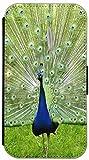 FioMi Flip Cover Hülle Samsung Galaxy S4 Mini i9190 i9195 Motiv 642 Pfau Blau Grün Handy Tasche Etui Schutzhülle Flipcover Case Wallet Bookflip Buchflip (642)