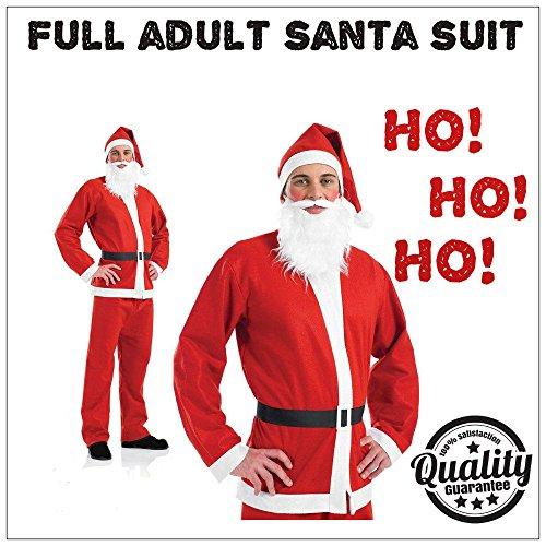 Creative Kostüm Adult - B-Creative Adult Santa Anzug Vater Weihnachten fancy dress Kostüm Deluxe mens Xmas Outfit