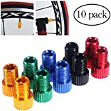 Vosarea 10pcs Bike Valve Adapter Bicycle Presta to Schrader Converter Tube Pump Air Compressor Tools