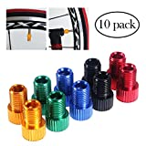 winomo Fahrrad Ventil Adapter 10 pcs Aluminium Presta auf Schrader Converter Car Bike Tube Pumpe Air Kompressor Tools