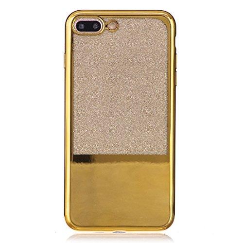 Wkae Galvanisierungsspiegel TPU Schutzhülle für iPhone 7 Plus ( Color : Gold ) Gold
