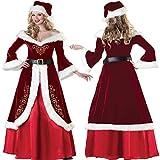 Chenqi Womens Christmas Fancy Dress Costumes Signora Santa Claus Red Cape Mantella con cappuccio Mantello 1.5M Bellissimo
