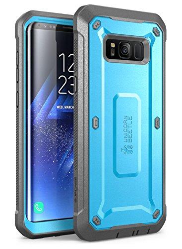 SUPCASE Samsung Galaxy S8 Hülle Unicorn Beetle Pro Handyhülle 360 Grad Case Bumper Schlagfest Schutzhülle Outdoor Cover mit eingebautem Displayschutz und Gürtelclip (Blau)