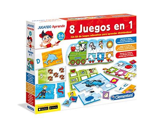 Clementoni- Kit 8 Juegos Aprender y Jugar,, Miscelanea...