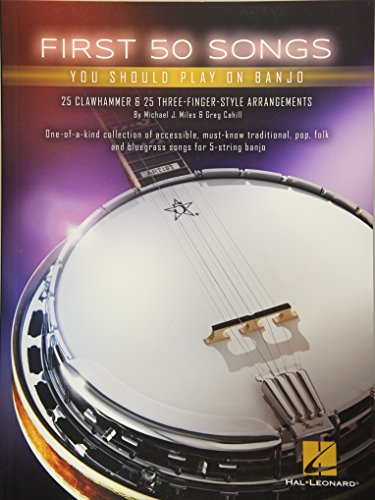 First 50 Songs You Should Play On Banjo -Book-: Noten