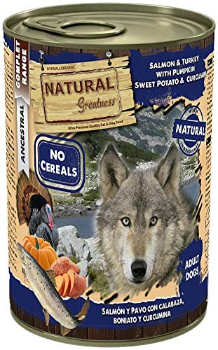 Natural Greatness Comida Húmeda Perros Salmón Pavo