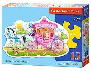 Castorland Puzzle konturowe 15 EL. - KSIA TM & # x139; & # x17A; niczka karocy w Puzzle