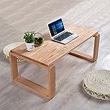 PENGFEI Massivholz Laptop Betttablett Tragbare Stehen Schlafsofa Tisch Multifunktion Japanischer Stil Holzfarbe, 2 Material 3 Dimensionen (Farbe : Eiche, größe : 100x50x40CM)