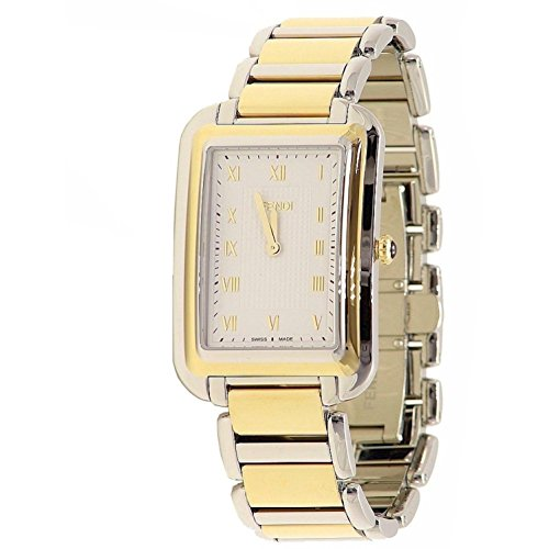 Fendi Women's Steel Bracelet Two Tone Steel Case Swiss Quartz Silver-Tone Dial Analog Watch F701114000