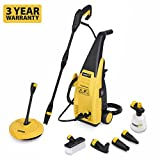Powerplus Outdoor Garden 105 Bar 1500 Watt Power Pressure Washer PLUS Full Cleaning Accessories Kit Including Patio Cleaner POWXG9020 - 3 Year Home User Warranty