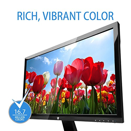 V7 L23600WHS 9K 599cm 236 inch Monitor HDMI VGA entire HD 5ms presenters energy Label A EU UK plug black Monitors
