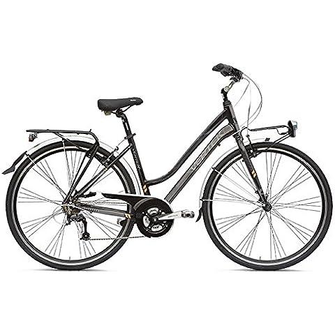 VERTEK Bicicletta donna Amsterdam 28'' 7 velocita' Nero Notte 44cm (City) / Bicycle woman Amsterdam 28'' 7 speed Black Night 44cm (City)