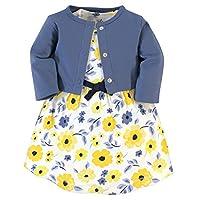 سترة وفساتين من القطن العضوي مزخرف من ناتشر جيرل Yellow Garden 2-piece 9-12 Months