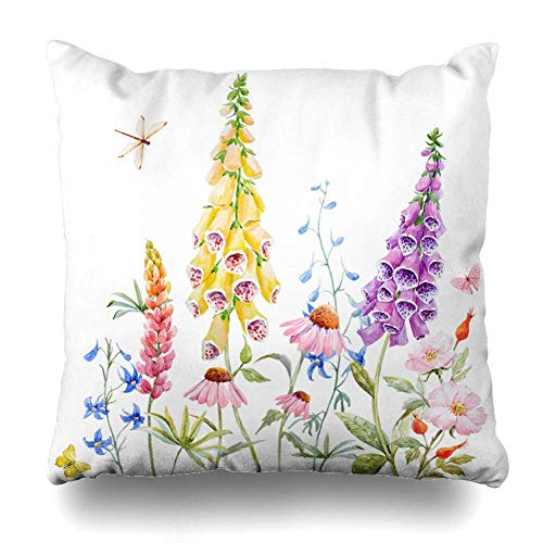 Klotr Decorative Throw Pillow Cover Butterfly Blue for sale  Delivered anywhere in UK