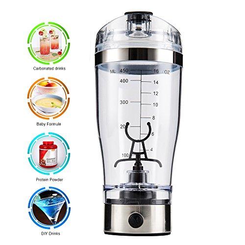Elektrischer Eiweiß Shaker Protein Shaker Mixer Eiweißshaker Kreative Elektro Blender für Säfte Cocktails Kaffee Tee Eiweiss- und Diätpulver Cup -