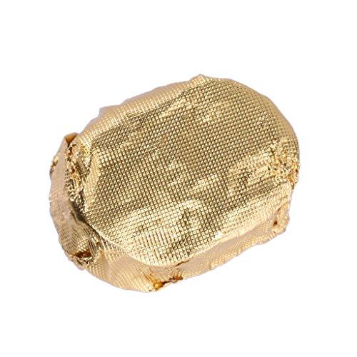 100pcs Papier Aluminium Feuille Emballage pour Chocolat Bonbons - Brun Or, 8cm x 8cm