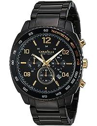 Caravelle New York Men's Quartz Stainless Steel Casual Watch, Color:Black (Model: 45B146)